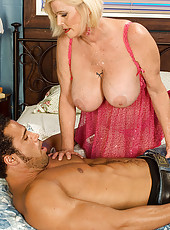 Granny gets her box fucked by young cock