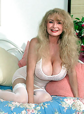 Kathi teasing with her huge fucking tits