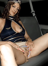 Mature babe gives bus driver a fuck and suck