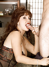 Big tit MILF gives head to her fuck buddy