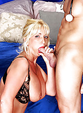 Blonde Christy Lee loves sucking cock