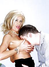 Leslie Laroux gaggling big cock action