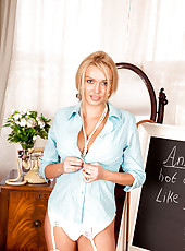 Check out this sweet and busty milf professor that you will dream of fucking