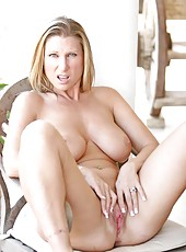 Seductive Devon Lee shows off her well rounded breasts and rides a dildo until she reaches an earth trembling orgasm
