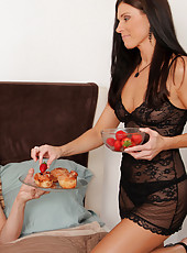 Hot momma India Summer gets fucked hard by her husband in the bedroom