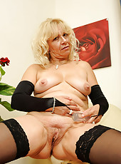 Horny Anilos housewife fucks her sweet pussy hard until she cums