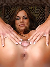 Amazing milf babe hunter gets her pussy fucked hard after her car breaks down in these hot hard fucking pics