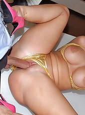 Amazing super hot big tits red headerkelly divine fucke