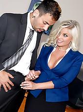 Slamming big tits hot ass babe nailed hard in these hot office fuck cumfaced pics