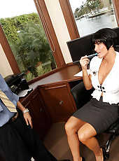 Amazing mega hot ass fucking shay gets her big tits creamed after a hard office fucking hot pics
