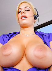 Hot big tits babe gets bent oveer in her office then drilled up her ass in these hot pics