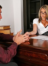 Watch big titty boss babe command to get fucked in her office in these hot big dong fucking vids
