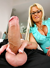 Horny business babe get nailed in her office in these hot doggy style fuck pics