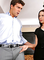 Plump big round titty lee mckenzie gets her fucking body pounded hard in the office in these hot cumfaced after work pics