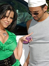 Super hot big tits business babe gets pounded by the mobile car wash dude in these hot big tits fuck fucking pics