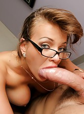 Super hot big tits blonde nika give her employee an office fuck for his raise in these amazing explosive fucking cumfaced pics