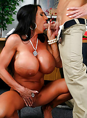 Log leg humongous titties lisa gets her sweet pussy pounded at work in these hot desk slammin vids