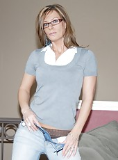 Amazing milfs fuck around when husbands are not home in these hot dildo fucking pics
