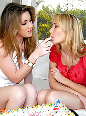 Kate enjoys some hot dripping wet cake in these awesome lesbo pics