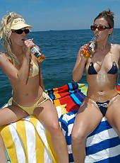 These 3 milfs love to go out on the boat and just let loose