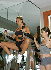 These milfs get bored after working out and work out eachother next