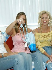 A day of shopping for these hot milfs
