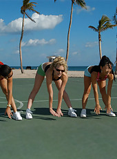These 4 milfs let loose after their tough workout