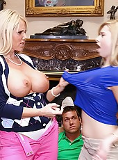 Hot ass molly bennet catches her mom fucking her bf hot cumfaced hardcore threesome teen mom sex