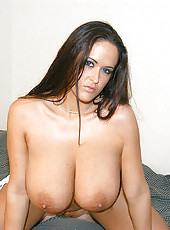 Super hot gigantic natural titties all over the place in these sexy pics