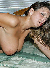 Savannah heat is on this mama gets slammed hard and gets a load on her big ass titties