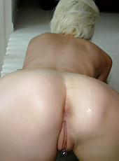 You have to see my horny wife masterbate in her bed while asleep in these hot pics