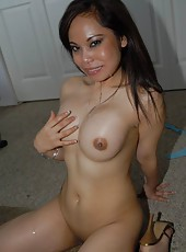 Come see my hot horny asian wife in these candid pics