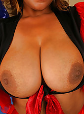 Cum check out catinas extreme natural titties in this smokin pic set