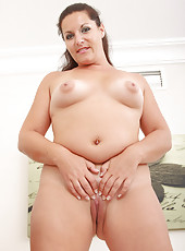 Lara Martinez from AllOver30 spreads her ass wide for the world to see