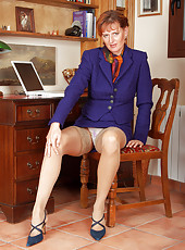 42 year old office lady takes a break  and spreads her mature pussy