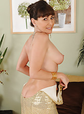 Elegant 47 year old Alexandra Silk showing off her tight mature body