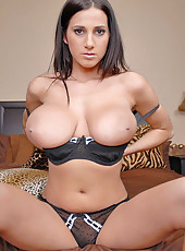 Annanikovas rides a hard cock in these amazing 36dd titty bouncin pics