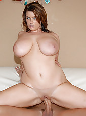 Top heavy and horny lisa gets her hot tits fucked then sucks a long dong in these hot pics