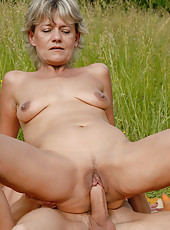 45 year old Sherry D gets her mature pussy stuffed full of hard cock