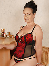44 year old Ria Black from AllOver30 looking fantastic in her lingerie