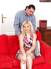 Ionella plants her 30 year old pussy firmly on rock hard cock in here