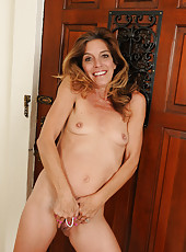 51 year old soccer MILF Monique takes a nude break from the ball
