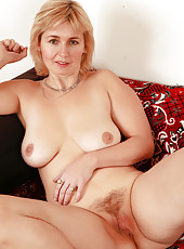 Natural titted Nella from AllOver30 showing off her mature sexy body