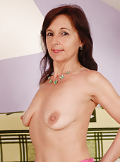 Petite 46 year old Jenny H from AllOver30 relaxing naked in here