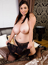 Busty housewife Michelle B stuffs her 30 year old pussy with plastic