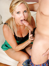 55 year old Annabelle from AllOver30 receives a how sticky creampie