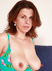 Beautiful 36 year old Patris spreading her cavernous fuck hole