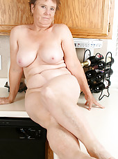 64 year old Sandra D washes more than just the dishes in this one