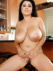Busty and exotic MILF Jaylene spreads her ass for a hot close-up