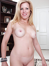 Blonde and elegant MILD Gail from AllOver30 strips and spreads